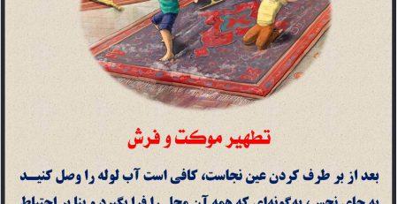 تطهیر موکت و فرش