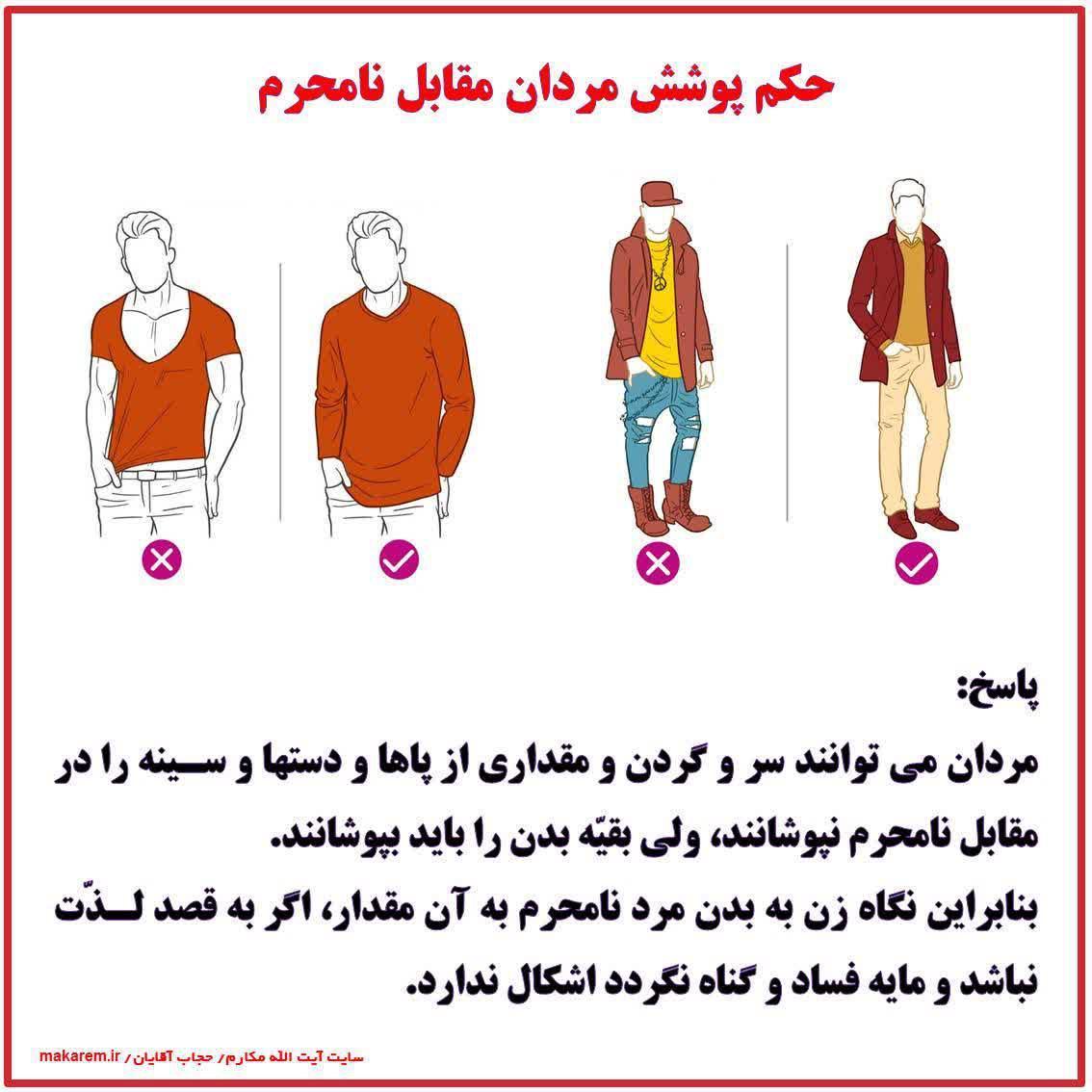 حکم پوشش مردان مقابل نامحرم