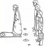 بچه ممیز در صف نماز جماعت